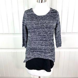 Stitch Fix Skies Are Blue Lurex Sweater and Cami
